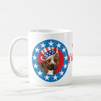 Personal patriótico de la taza básica blanca