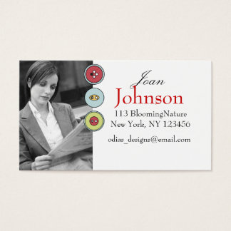 personal photo business cards