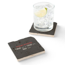 Personal Photo Creation - Travertine Stone Coaster