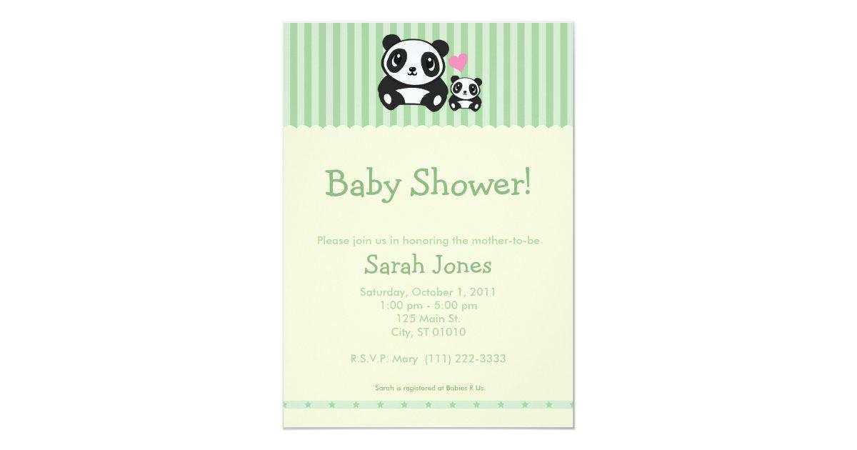 personal photo panda baby shower green card zazzle