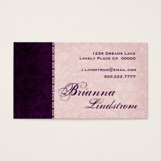 Personal Pink and Eggplant Purple Business Card