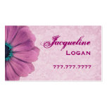 Personal Pink Daisy Business Card Templates