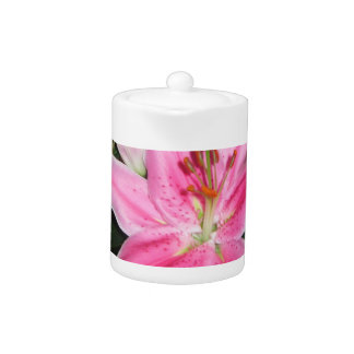 Personal Pink Lily Teapot