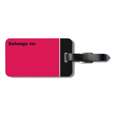 takeme4aride PERSONAL PINK RED GREY TRAVEL LUGGAGE TAG