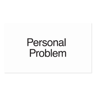 Personal Problem Business Card