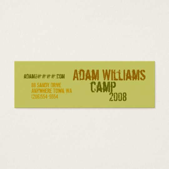 Personal Profile Cards - Camp