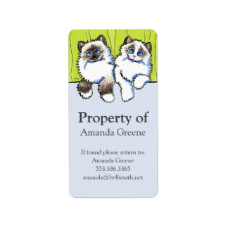 Personal Property Ragdoll Cats Off-Leash Art™ Label