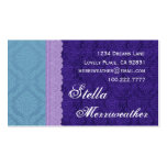 Personal Purple Damask and Lace V26 Business Card