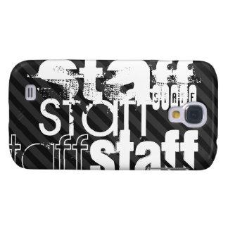 Personal; Rayas negras y gris oscuro Funda Para Galaxy S4
