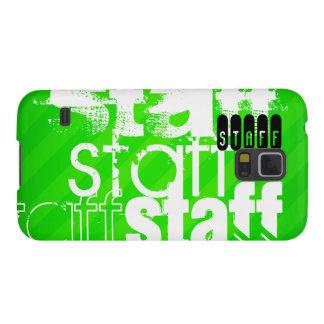 Personal; Rayas verdes de neón Carcasa Para Galaxy S5