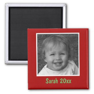 Personal Red Greeting Custom Photo and Text