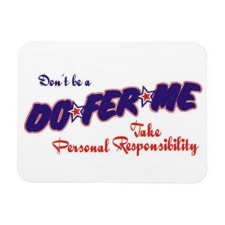 personal responsibility rectangular photo magnet