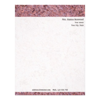 Personal Rock Texture with Return Address Letterhead