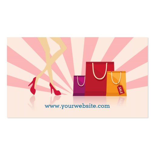 Personal Shopper Business Cards (back side)