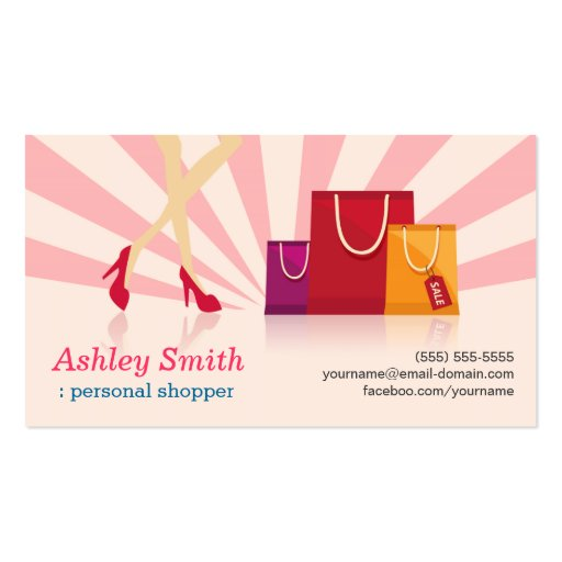 Personal Shopper Business Cards (front side)