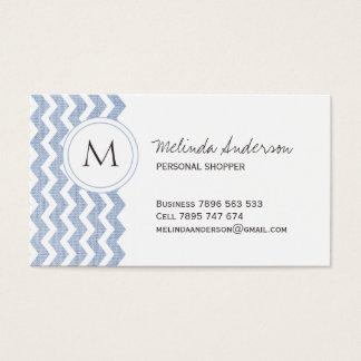 Personal Shopper Chevron Business Card