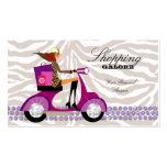 Personal Shopper Fashion Jewelry Purple Zebra Business Card
