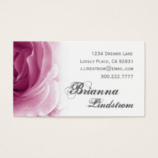 Personal Soft Pink Floral Rose Template Business Card