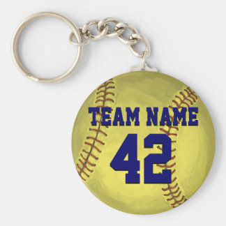 Personal Softball Art Keychain