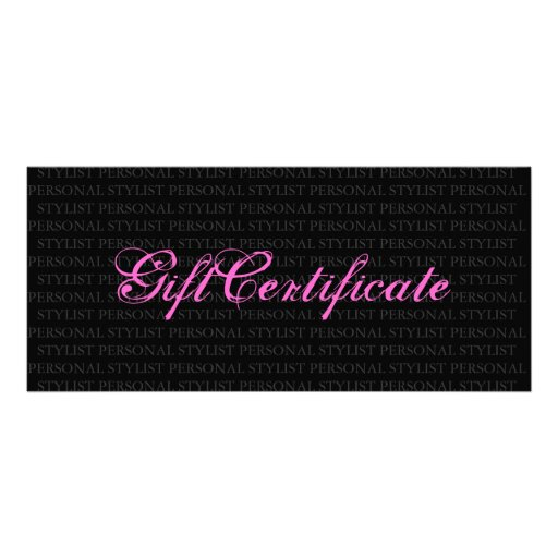 personal gift certificate template .