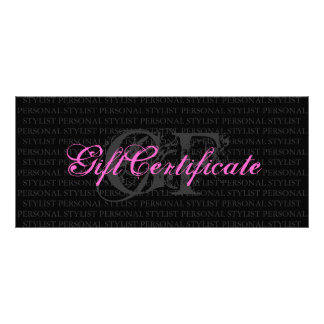Personal Stylist Gift Certificate Rack Cards