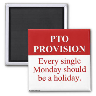 Personal Time Off Allocation (3) 2 Inch Square Magnet