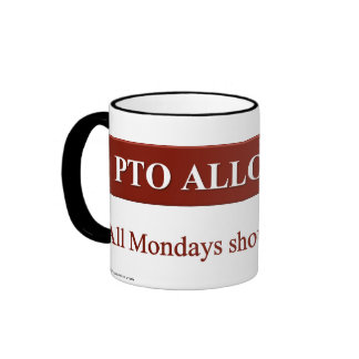 Personal Time Off Allocation Ringer Mug