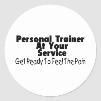 Personal Trainer At Your Service Classic Round Sticker