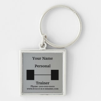 Personal Trainer Barbell Keychain