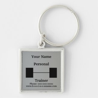 Personal Trainer Barbell Keychains