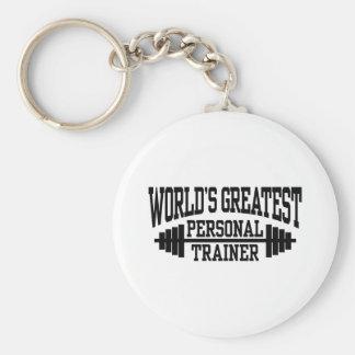 Personal Trainer Basic Round Button Keychain