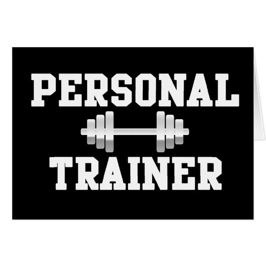 Personal Trainer Black and White Dumbell Training Card