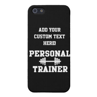 Personal Trainer Black and White Dumbell Training Case For iPhone SE/5/5s