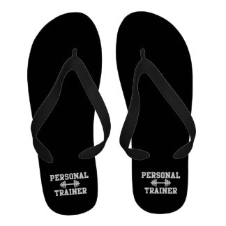 Personal Trainer Black and White Dumbell Training Sandals