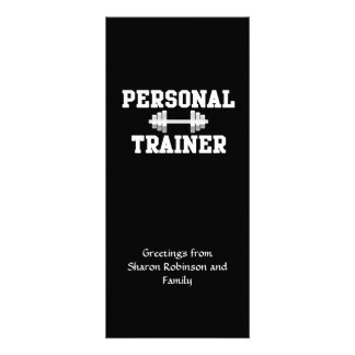 Personal Trainer Black and White Dumbell Training Rack Card