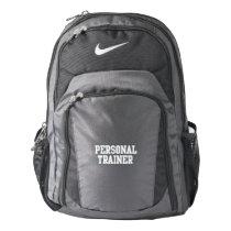 Personal Trainer Black Varsity Backpack