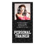 Personal Trainer Black Varsity Photo Card