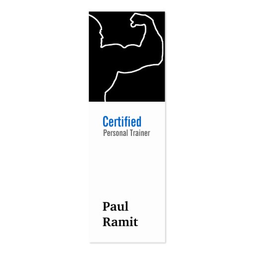 Personal Trainer Black Vertical Business Card