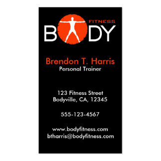Personal Trainer Body Madness Vertical Biz Cards Double-Sided Standard Business Cards (Pack Of 100)