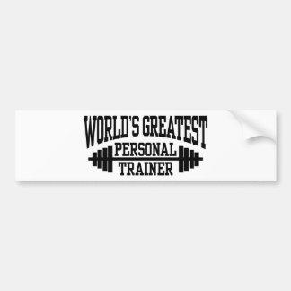 Personal Trainer Bumper Sticker