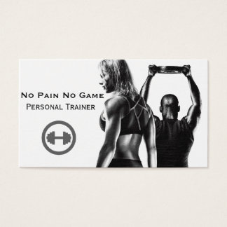 Personal trainer business business card