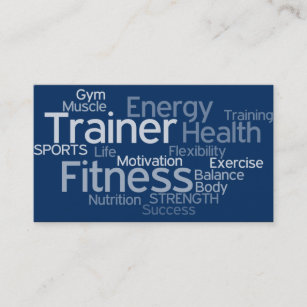 Gym business cards zazzle personal trainer business card colourmoves