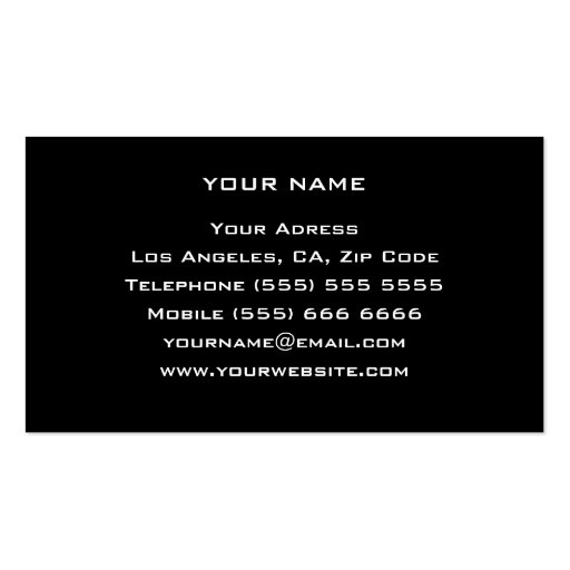 Personal Trainer Business Card (back side)