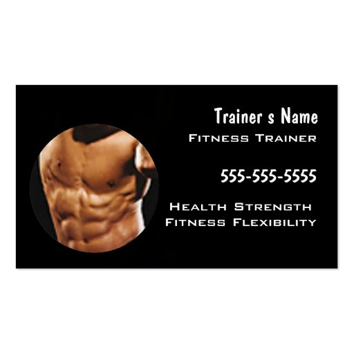 Personal trainer business cards templates vatozozdevelopment personal trainer business cards templates cheaphphosting Gallery