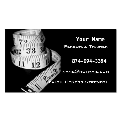 Personal trainer business card template business card templates personal trainer business card template wajeb Image collections