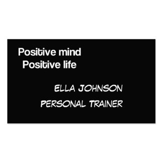 Personal trainer business card with motto