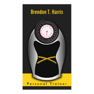 Personal Trainer Business Cards - Black and Yellow Business Cards