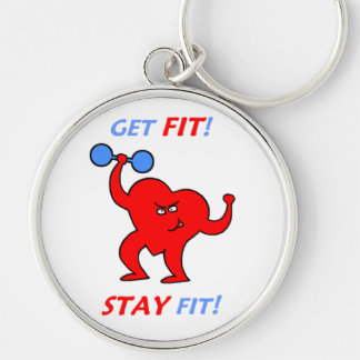 Personal Trainer Cardiology Heart Workout Keychain