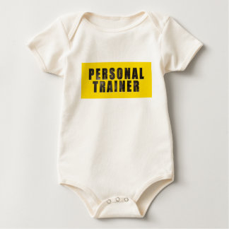 Personal Trainer Chiseled Text Baby Bodysuit
