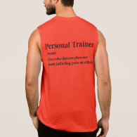 Personal Trainer Definition Sleeveless Tee